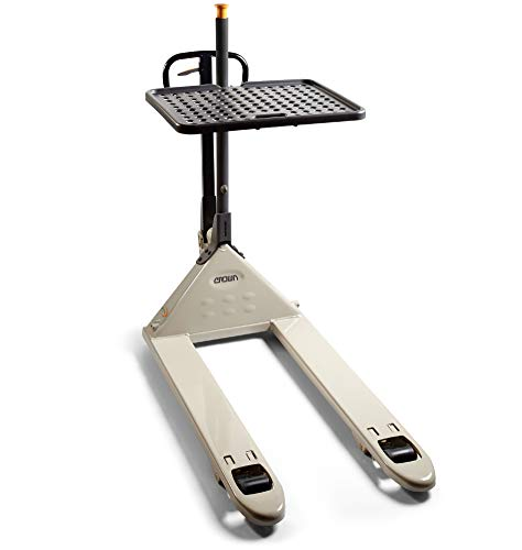 Crown PTH Pallet Jack with Load Tray/Hand Pallet Truck with Load Tray 27x48 5000 lb