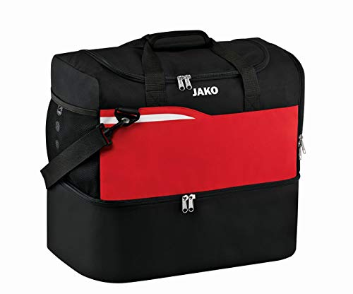 JAKO Kinder Competition 2.0 Sporttasche, schwarz/Rot, 45x30x42 cm