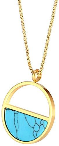 CKAWM Halskette Einfacher Damenschöner Einfacher Stahlhalskettenschmuck