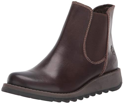 Fly London Damen Salv Chelsea Boots, Braun (Darkbrown 001), 42 EU