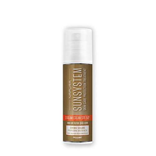 NAPURA SUNSYSTEM Crema solar protección alta Dream Cream SPF 50 - Principios activos - Mix UV filtro - Vitamina y - Caléndula - 150 ml