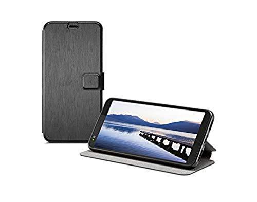 Gigaset GS370 / 370 Plus Smartphone Schutzhülle - Book Case gegen fallen; Full Body Booklet - Beidseitiger 360°Schutz - anti-scratch - Handy-Rundum-Schutz Zubehör; schwarz