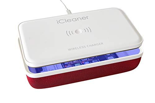 iCleaner by Evolvendo - Esterilizador UVC, Esterilizador Portátil Para Teléfonos Móviles, Higienizante Mascarillas con Lámpara UV Germicida, Caja Desinfeccion Ultravioleta, Con Cargador Inalámbrico.