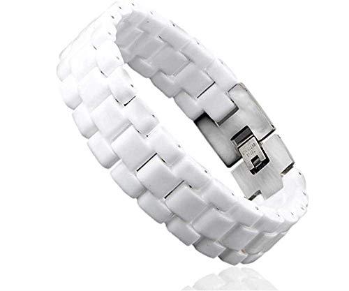 Pulsera elegante pulsera pulsera de moda de Halloween de los hombres s unisex blanca joyas convexo correa de pulsera de cerámica Hombres Mujeres 22cm reloj de pulsera Enlace 21cm duradero for mujer fo