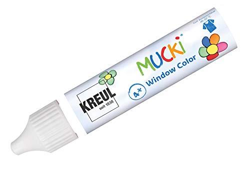 Kreul 24401 - Mucki Window Color, farblos, 29 ml Pen, Fenstermalfarbe auf Wasserbasis, parabenfrei, glutenfrei, laktosefrei, vegan, leicht vermalbar, auswaschbar