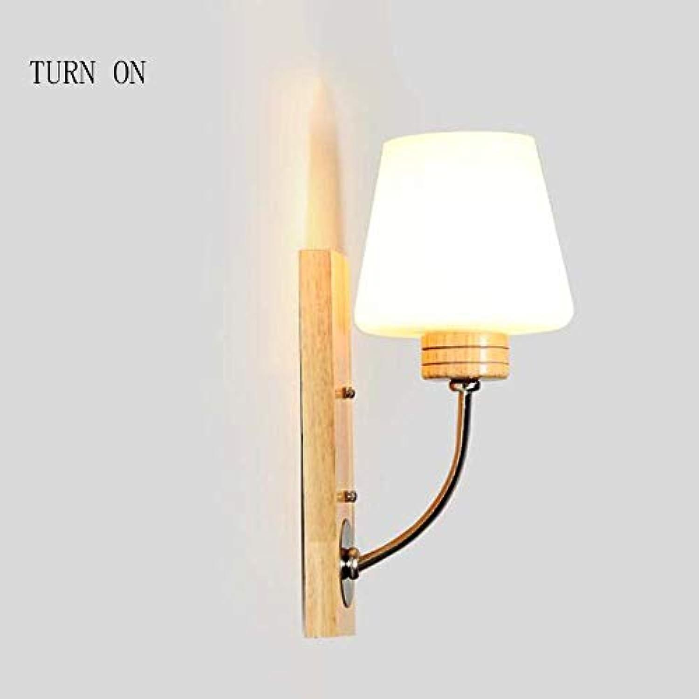 MJY Mode die Wirtschaft der Energie Lampe verstellbare Wand - Massivholz Kreative Persnlichkeit Modus der modernen minimalistischen Wandleuchte Doppelzimmer mit Wohnzimmer Wandleuchte (nicht die L