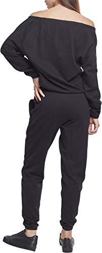 Urban Classics Damen Jumpsuit Ladies Cold Shoulder Terry, Schwarz (Black 00007) - 2