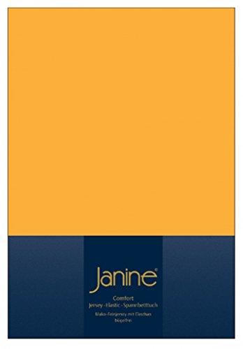 Janine Design Drap-housse, Coton, jaune, 140/160x200/220