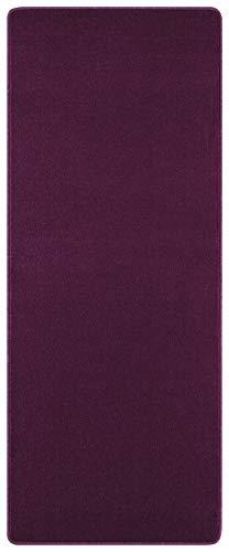 Hanse Home Kurzflor Uni Teppich Nasty Tappeto, Polipropilene, Brombeer Violett, 67 x 120 cm