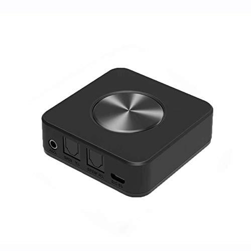 YGQNH Receptor Bluetooth, Transmisor Bluetooth 5.0 Receptor 2 En 1 Inalámbrico APTX HD Baja Latencia A2DP Música Óptico SPDIF Aux RCA 3.5mm Adaptación De Audio Estéreo