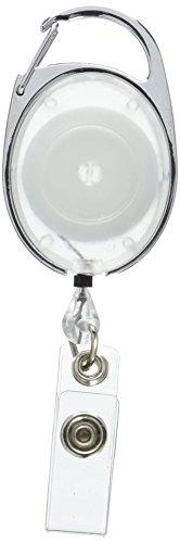Swingline GBC Retractable Badge Holder, ID Holder, Carabiner Badge Reel, BadgeMates, Translucent, Clear, 25 Pack (3748080)
