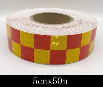 WANGDANA Reflexstreifen 5 cm Breite Auto Reflektierendes Material Band Aufkleber Automobile Motorräder Sicherheitswarnband Reflektierende Film Auto Aufkleber