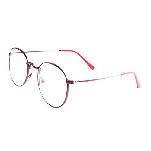 MU CHAOHAI Heren- en Damesbril Vintage Rond Frame literaire Ventilator Harajuku Metalen Platte Spiegel