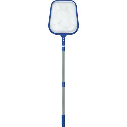 FibroPool Leaf Skimmer Net with 3 Foot Telescoping Pole