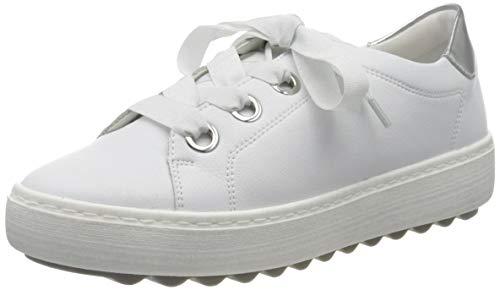 Remonte Damen D1002 Sneaker, Weiß (Weiss/Argento 80), 43 EU