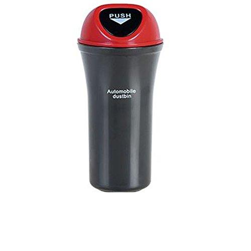 QIYUEQI plastique ABS 9 5*7*20cm Rouge respectueuse de l'environnement et facile à nettoyer un sac poubelle de voiture