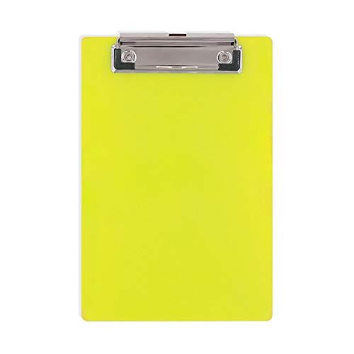 Nubstous - Carpeta de plástico con Clip (tamaño A4, 2 Unidades), Color Amarillo