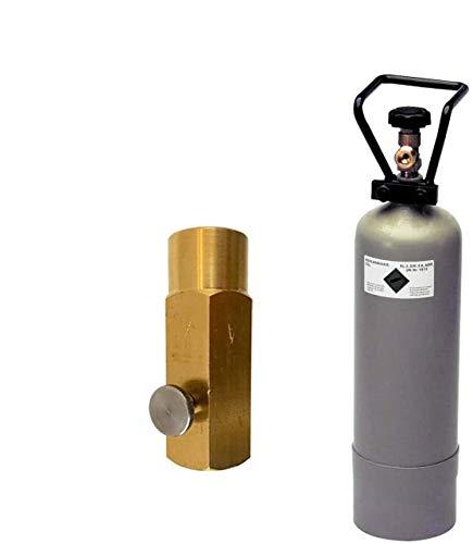 CO2 Eigentumsflasche gefüllt inkl. Adapter 1/2 Zoll Gewinde zum Umfüllen von CO2 Gas aus grossen CO2 Flaschen in die 290g WasserMaxx CO2 Flaschen Zylinder Sparen Sie bis zu 500€ pro Jahr!