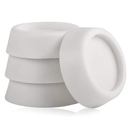 ECENCE 4 amortiguadores de vibración de Goma para Lavadora, Secadora, lavavajillas, amortiguación de vibración, Accesorio, Repuesto, amortiguación, topes Antideslizantes, Almohadillas de amortiguac