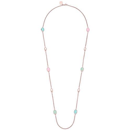 Leonardo Jewels Damen Halskette Beato Edelstahl Glas mehrfarbig 100 cm   016252