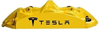 Set of 6 Tesla Vinyl Hi Temp Brake Caliper Decal Sticker Pack