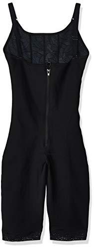 Leonisa Sculpting Open Bust Body Shaper for Women with Tummy Control - Knee-Length Shapewear Bodysuit Black