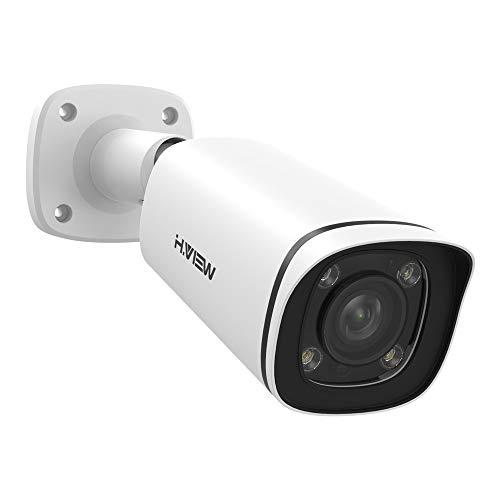 H.VIEW 4K (8MP) 5× Optical Zoom Outdoor Security Camera, 3840x2160, Audio, H.265, 100ft Night Vision, IP67 Waterproof IP Bullet PoE Camera