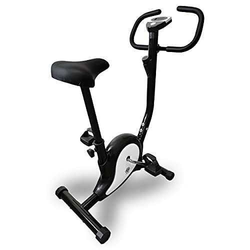 Fitness Fahrrad Heimtrainer Ergo Bike Trimmrad kompakt Cardio Ergometer (Schwarz)
