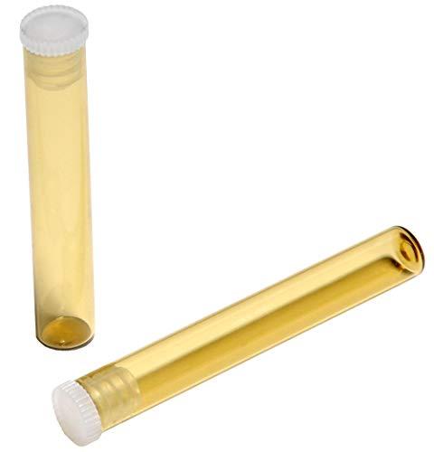 Glasröhrchen 1,5 g für Globuli Homöopathie, 30 Stück Braunglas