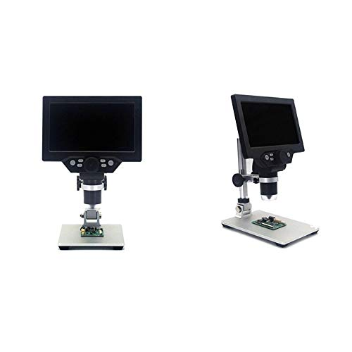 TANGIST G1200 Digital Microscope 7 Inch Large Color Sn Large Base LCD Display 12MP 1-1200X Continuous Amplification nifier with A for Natural Observation/Part Inspection (Color : US Plug)