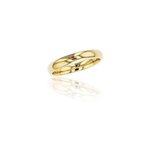 10K Yellow Gold 3mm Polished Plain Wedding Band, Size 8