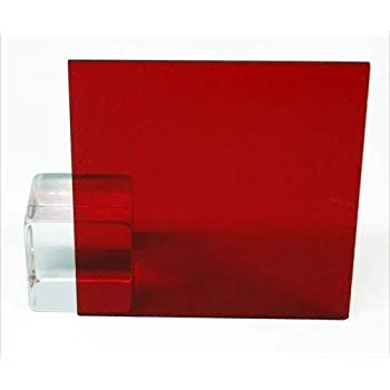 Amazon Com Red Acrylic Transparent 2423 1 8 Thick Pick Your Size 12 X 12 Office Products