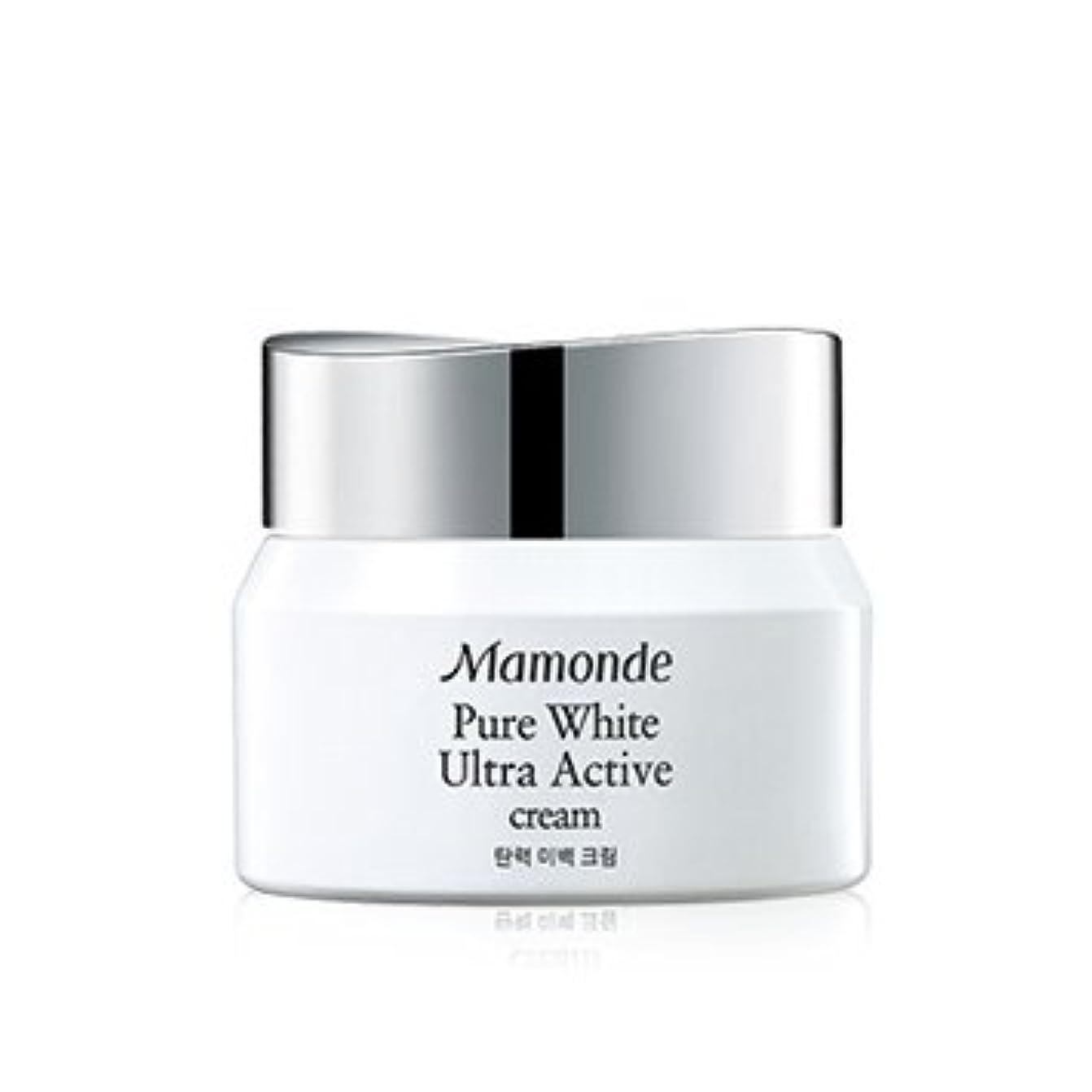 オンス黒なしでMamonde Pure White Ultra Active Cream 50ml/マモンド ピュア ホワイト ウルトラ アクティブ クリーム 50ml [並行輸入品]