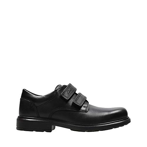 Clarks Remi Pace Inf Black Leather - Black Leather - 7 UK Child