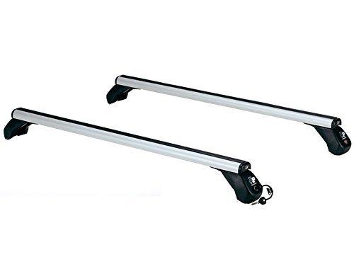 Par de barras portaequipajes de aluminio La Prealpina LP49 con kit de enganches específicos
