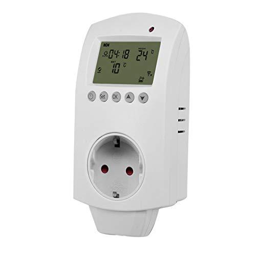 Fgyhty Válvula WiFi 16A programable Tipo de Conector Hembra Bola termostato de calefacción eléctrica de la válvula solenoide de la válvula Enchufe de la UE
