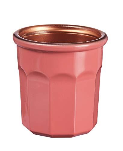 Luminarc – Vaso Carnaval de 9 cl – Vaso para bebidas calientes, vasos y decoración – Compatible con lavavajillas y microondas – Fabricación francesa – Color Coral
