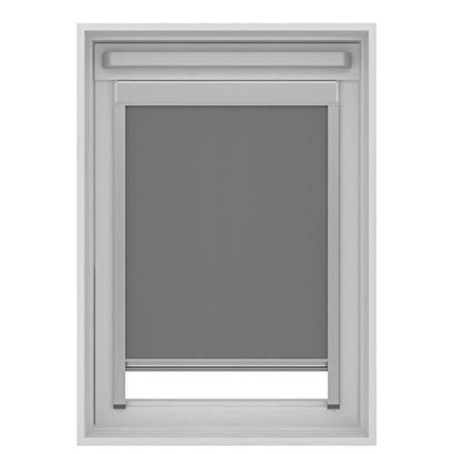 Karwei - Tenda avvolgibile oscurante per finestre da tetto Fakro, colore: Grigio