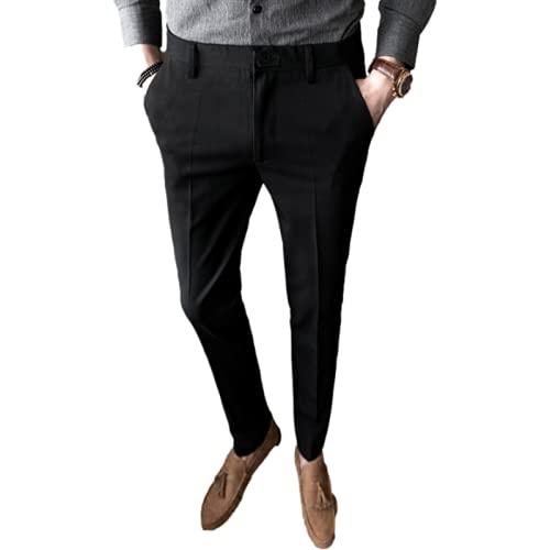 Pantaloni Casual da Uomo Moda Estiva Temperamento Urban Business Pantaloni da Abito Attillati Pantaloni da pendolare Attillati a Gamba Dritta Pantaloni Casual Attillati 31