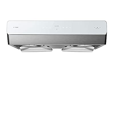 """FOTILE Pixie Air UQG3002 30"""" Stainless Steel Under Cabinet Range Hood, 850 CFMs Kitchen Over Stove Exhaust Vent with LED Lights Dual AC Motors, Motion Control and Touchscreen"""