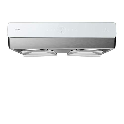 "FOTILE Pixie Air UQG3002 30"" Stainless Steel Under Cabinet Range Hood, 850 CFMs Kitchen Over Stove Exhaust Vent with LED Lights Dual AC Motors, Motion Control and Touchscreen"