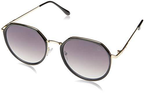 Óculos de Sol Vaneau, Les Bains, Redondo, Feminino, Preto, Único