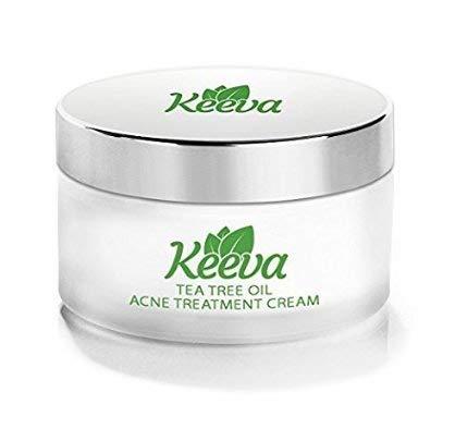 Crema Organica Anti Acne Keeva Organics Tratamiento Anti Acne con Acido Salicilico y Arbol de Té, Reduce Espinillas, Puntos negros y granos.