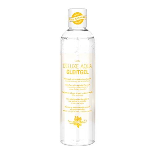 EIS, Lubricante Deluxe Aqua vainilla, efecto de larga duración acuoso, 300ml