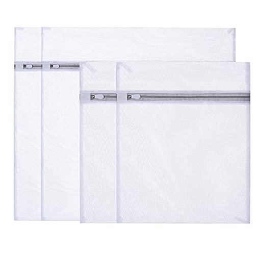 4 bolsas de malla para la colada para lavadora, para ropa delicada, blusa, zapatos, sujetador, ropa interior, ropa de bebé (4 unidades)