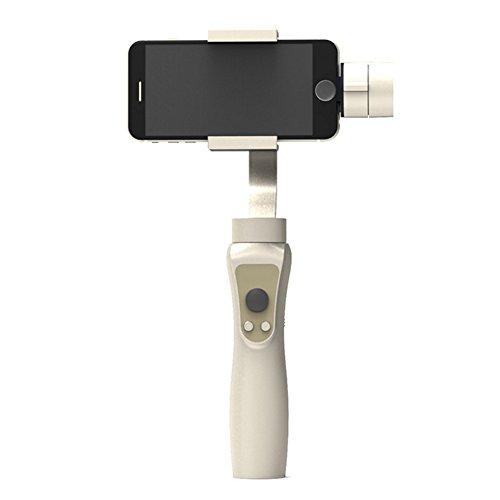 LIRONG Smart Phone handheld stabilisator, handheld PTZ-balancer voor GoPro 3/4/5/6 panoramaopnames onder 6,0 inch bidirectionele stroomvoorziening voor Bluetooth App-verbinding