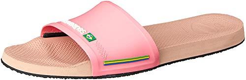 Havaianas Unisex-Erwachsene Slide Brasil Flipflop, Crocus Rose, 34 EU