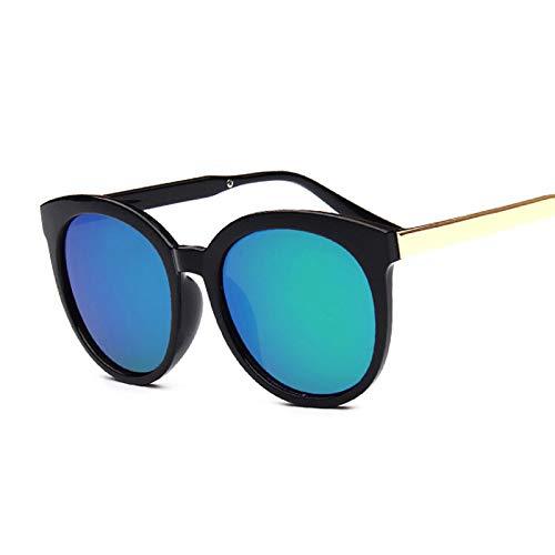SHANGYUN Gafas de Sol Vintage con Forma de Ojo de Gato para Mujer, con Montura Grande, Gafas de Sol, Espejo, Moda Retro, de Gran tamaño, Verde