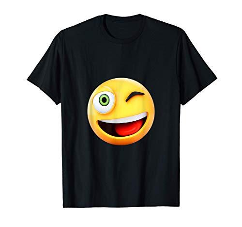 guiño divertido ojo emoji cara feliz emojis regalo emoticon Camiseta