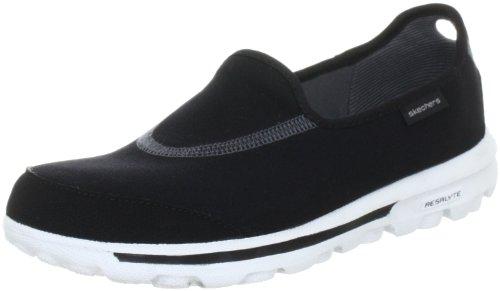 Skechers Performance Women's Go Walk Slip-On Black/White Walking Shoe 10 W US